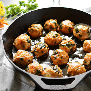 Maple Sweet Potato Chicken Meatballs