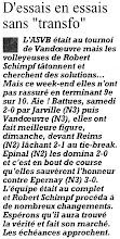 Photo: 19-09-1995 N2F débuts difficiles au tournoi de Vandoeuvre