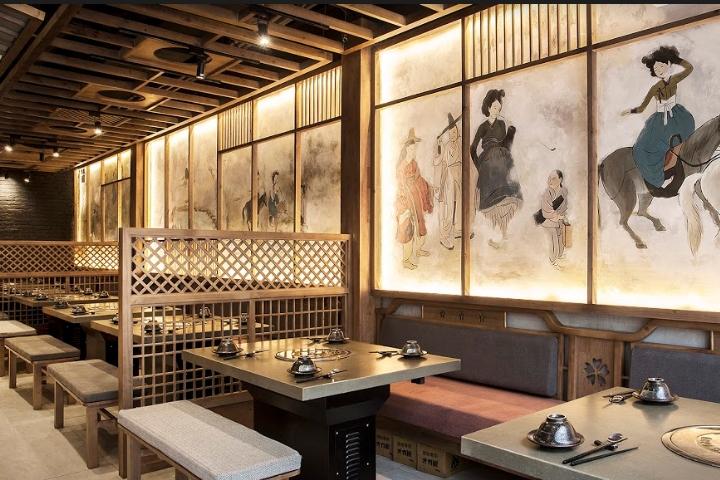 Thiết kế nhà hàng lẩu nướng phong cách Hàn Quốc