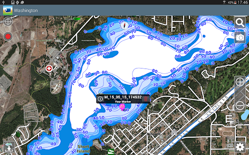 Aqua Map Washington Lakes GPS- screenshot thumbnail