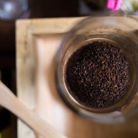 Coffee Powder by Ho En - Food & Drink Alcohol & Drinks ( glass, coffee, powder, aroma, cup )