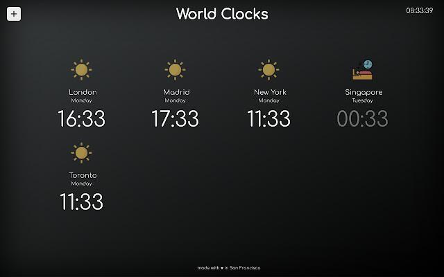 World Clocks New Tab