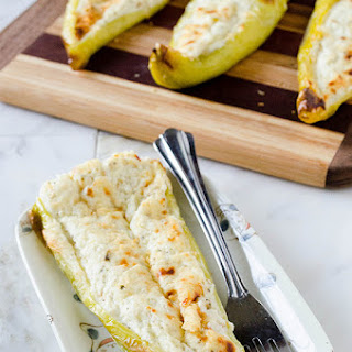 Cheesy Stuffed Banana Peppers (Gluten Free).