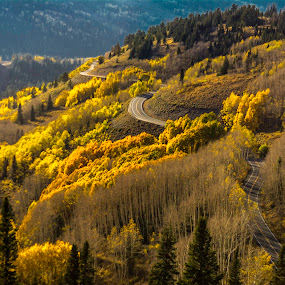 Utah Cottonwood Road by Ken Wagner - Landscapes Mountains & Hills ( mountains, nature, sunset, cottonwood canyon, fall, nikon, roads,  )