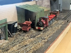 Photo: 013 A view along the length of Ashe Wharf, Bob Cope's 0-16.5 layout .
