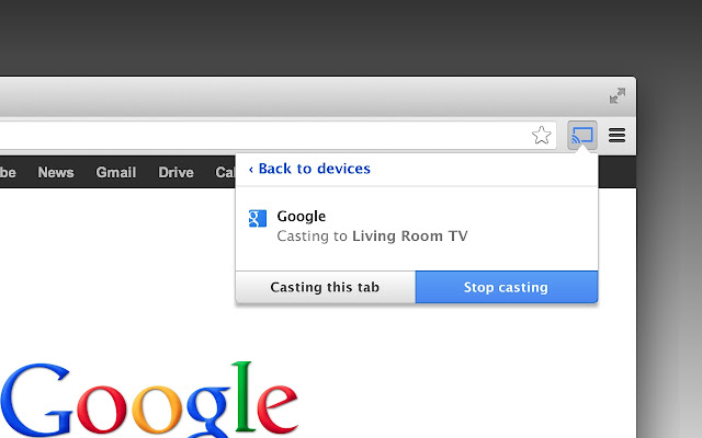 Google Cast (Beta) Screenshot