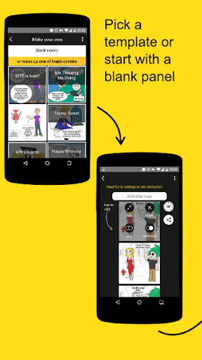 Frameless Comics Maker Screenshot