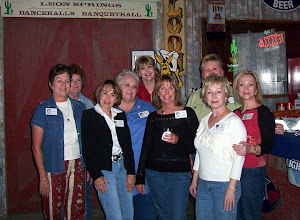 Photo: Carol (Craven) Barnes, Michele (Baldree) Bibb, Barbara (Novosad) McClure, Rosemary (Worthy) Dooley, Kathi (Hesson) Curtis, Linda (Wilson) Mitchell, Rita (Leeper) Sholund, Melinda (Wright) Young, Suzy (Wright) Thomas