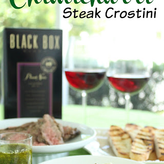 Chimichurri Steak Crostini.