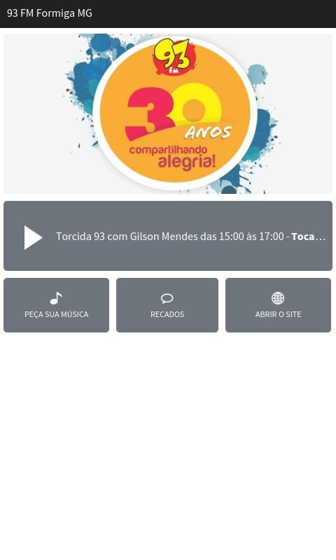 93 FM Formiga MG- screenshot