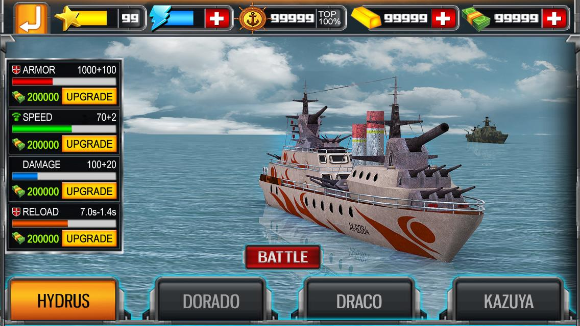 Sea Battleship Combat 3D- screenshot