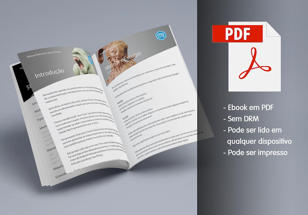 Ebook Massas de Escultura e Modelagem - Manual Definitivo