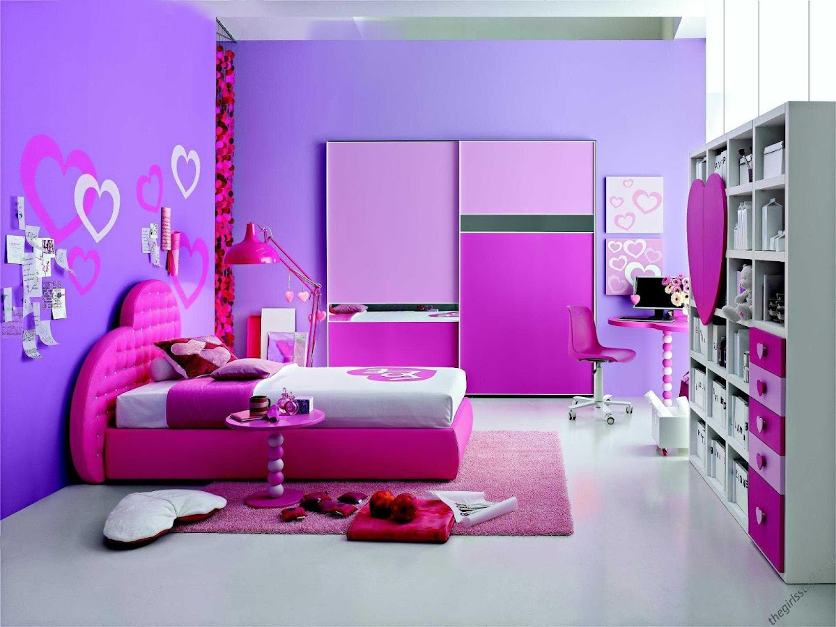 Wall paint colors for girls bedroom - Bedroom Wall Painting Design Screenshot