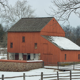 Red Barn at Daniel Boone Homestead Berks County, PA by Jerry Hoffman - Buildings & Architecture Other Exteriors (  )