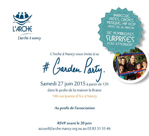 Garden Party de L'Arche à Nancy le 27 juin 2015
