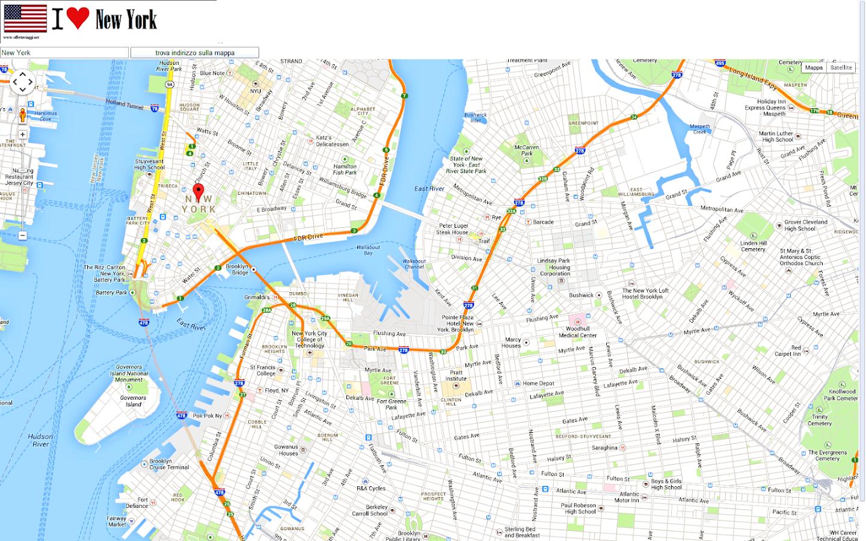 New York Map - New york city map google