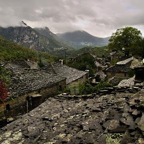 Zagorochoria, Greece by Paschalis Angelopoulos - Landscapes Travel ( zagorochoria, village, ioanina, greece, papigko, zagori, rooftops,  )