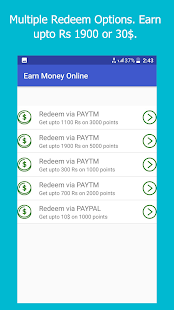 Earn Money Online - Get paytm paypal cash daily - náhled