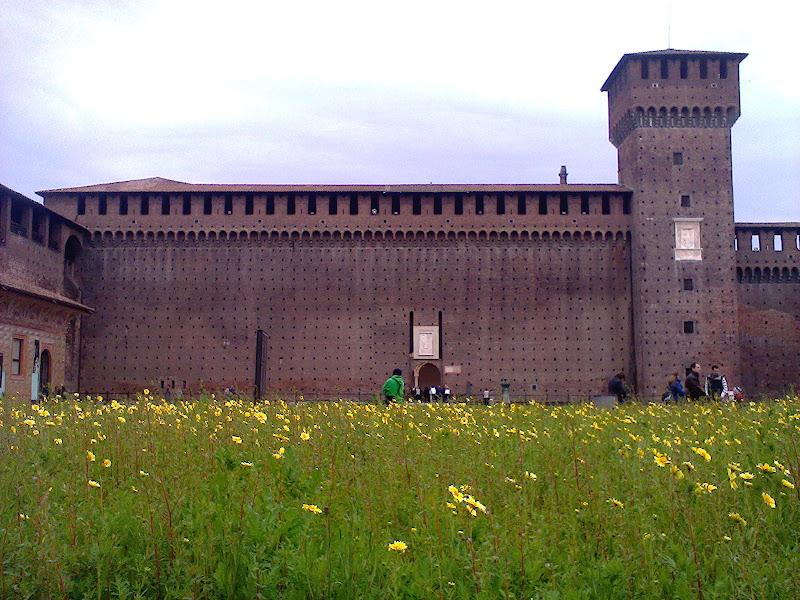 spring in Castello Sforzesco di Praz