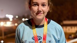 Laura Zarauz logra dos medallas en el Campeonato de España sub14 de atletismo.