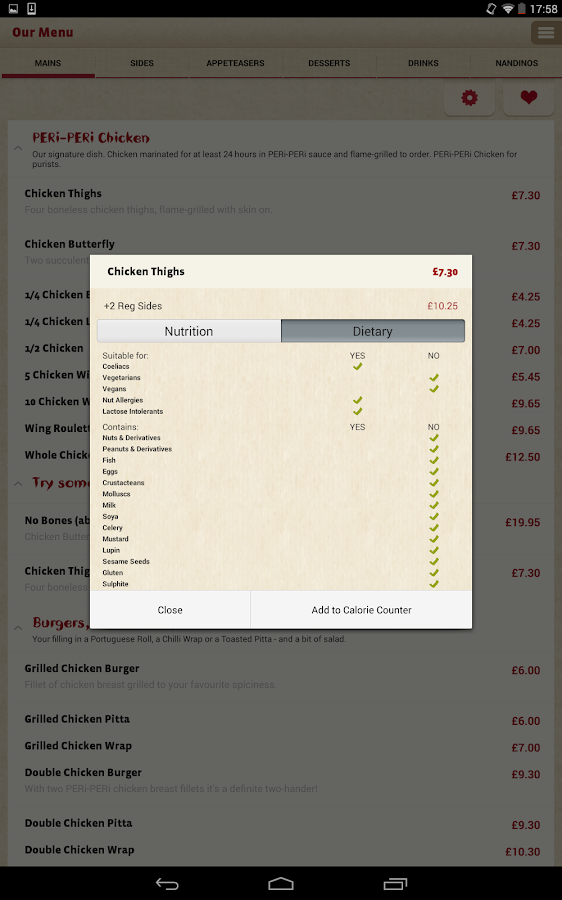 Nando's- screenshot