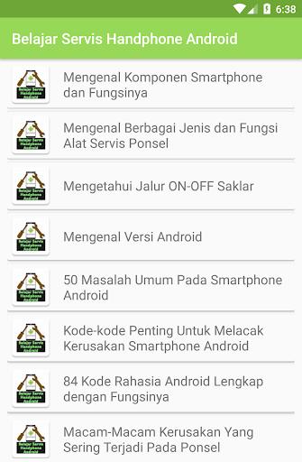 Belajar Servis Handphone Android 1.0 screenshots 1