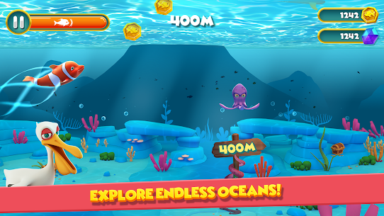 Dolphy Dash: Ocean Adventure MOD APK (Unlimited Money) 3
