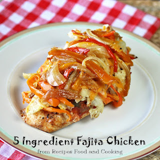 5 Ingredient Baked Fajita Chicken