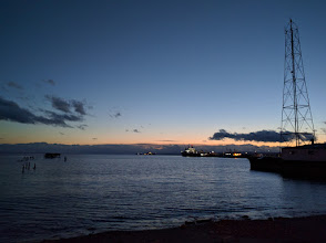 Photo: Dusk in the harbor at Punta Arenas 2 days after the longest day of the year.  It is just past 11:00pm.