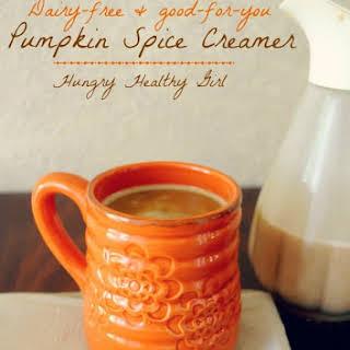 Dairy-free Pumpkin Spice Creamer.