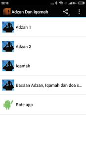 Adzan Dan Iqamah - náhled