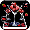Strawberry Glass Launcher Theme icon