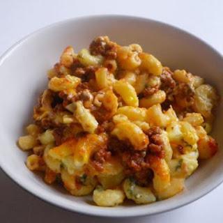 Ground Beef Macaroni Casserole.