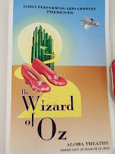 Photo: We took in a fun community theater production of the Wizard of Oz, preceded by tasty Italian dinner next door