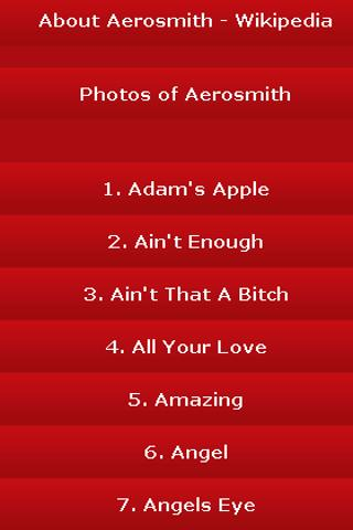 All Songs of Aerosmith