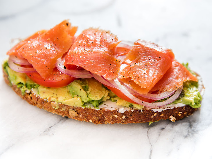 Avocado Toast With Smoked Salmon, Goat Cheese, and Capers Recipe ...