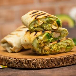 Avocado Chicken Burritos.