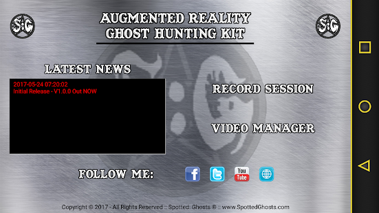 SG ARK - Augmented Reality Ghost Hunting Kit- screenshot thumbnail