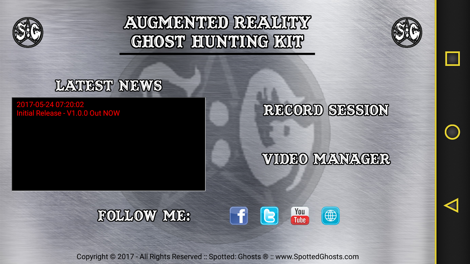 SG ARK - Augmented Reality Ghost Hunting Kit- screenshot