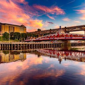 Tyne Sunset by Davey T - City,  Street & Park  Historic Districts ( tyne, quayside, sunset, gateshead, newcastle )