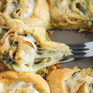 Cheesy Turkey Pesto Rolls.