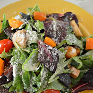 Mixed Green Salad with Cherry Balsamic Salad Dressing