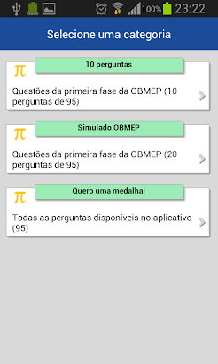 Simulado OBMEP nível 3 screenshot