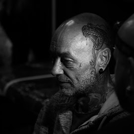 snake by Mike Coombes - People Body Art/Tattoos ( snake, head, tattoo, portrait, man,  )