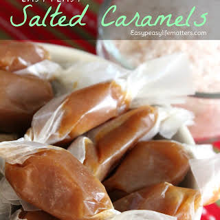 Easy Peasy Salted Caramels.