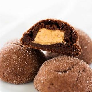 Stuffed Peanut Butter Chocolate Cookies Recipe