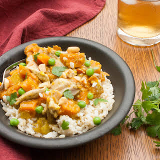 Slow Cooker Chicken Curry with Sweet Potatoes.