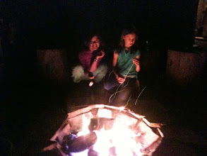 Photo: I built a Bedouin firepit in the back yard after a trip to the Middle East... It has redwood log seats around it, and is an amazing place to spend time with friends.