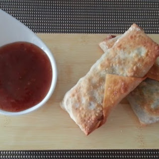 Vegetable egg rolls with Asian Ginger Grilling Sauce