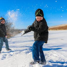 Snow Fight by Kathy Suttles - Babies & Children Children Candids (  )